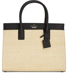 Kate Spade Cameron Street Straw Candace Medium Satchel - NATURAL/BLACK - STYLE