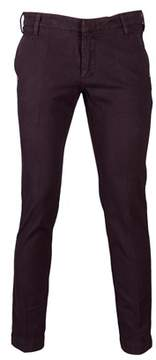 Entre Amis Men's 81881118812 Burgundy Cotton Jeans.