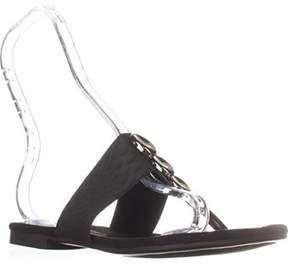 Alfani A35 Henii Flat Thong Sandals, Black.