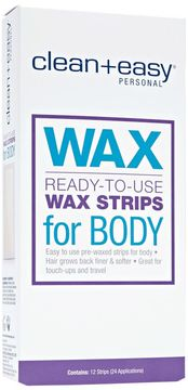Clean + Easy Body Wax Strips