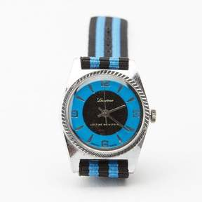 Blade + Blue Vintage 1970&|39;s Lucerne Blue Watch with Striped Band