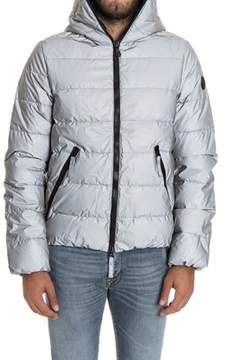 Hydrogen Men's Silver Polyester Down Jacket.