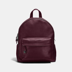 COACH Coach Campus Backpack - DARK GUNMETAL/OXBLOOD - STYLE