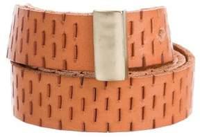 Diane von Furstenberg Gold-Tone Buckle Leather Belt