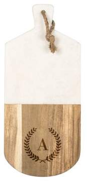 Cathy's Concepts Personalized Marble and Acacia Wood Serving Board