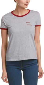 Cotton Candy Rib-Trim T-Shirt
