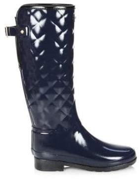 Hunter Refined Gloss Quilted Tall Rain Boots