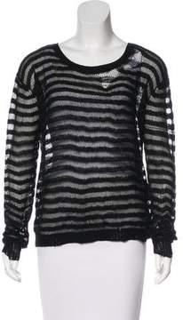RtA Denim Metallic Cashmere Sweater