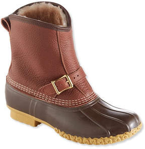 L.L. Bean Men's L.L.Bean Boots Tumbled-Leather, 8 Lounger Shearling-Lined