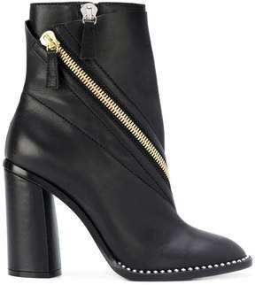 Casadei zip-embellished ankle boots