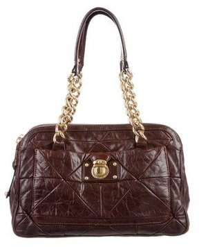 Marc Jacobs Leather Ines Bag - BROWN - STYLE