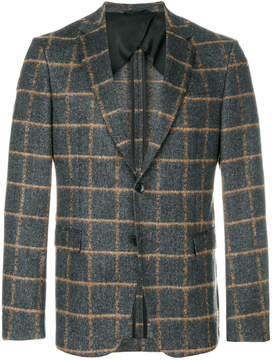 HUGO BOSS knitted checked suit jacket