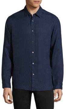 Michael Kors Regular-Fit Linen Shirt