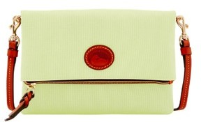 Dooney & Bourke Nylon Foldover Zip Crossbody Shoulder Bag - KEY LIME - STYLE