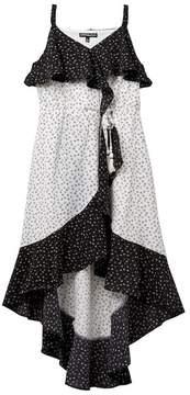 My Michelle mymichelle Crossfront Ruffle Wrap Dress (Big Girls)