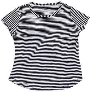 Eddie Bauer Navy & White Stripe Crewneck Tee - Girls
