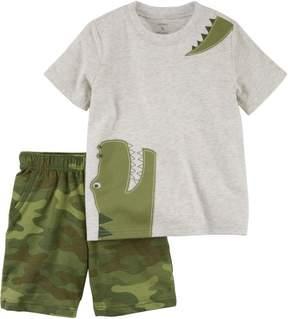 Carter's Toddler Boys Gator Camo Shorts Set
