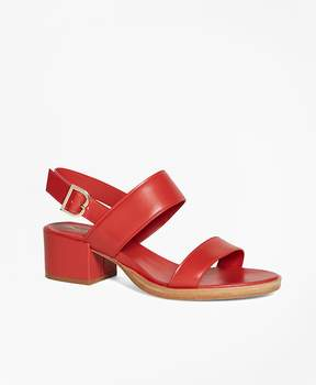 Brooks Brothers Low Open-Toe Sandal