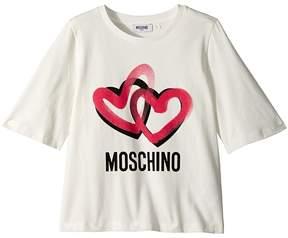 Moschino Kids Logo Heart Graphic T-Shirt Girl's T Shirt