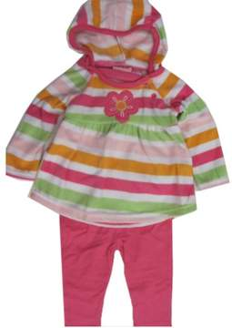 Carter's Baby Girls Pink Striped Butterfly Applique 2 Pc Leggings Set 12M