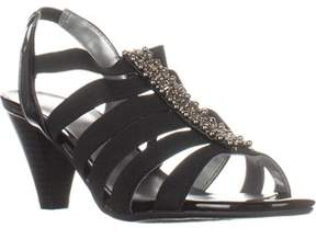 Karen Scott Ks35 Neema Heeled Gladiator Sandals, Black.
