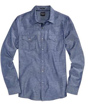 GUESS Men's Flecked Chambray Shirt