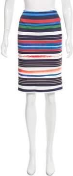 Clover Canyon Striped Pencil Skirt