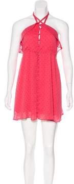 For Love & Lemons Swiss Dot Mini Dress
