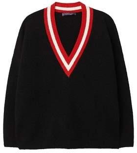 Violeta BY MANGO Constrating V-neck sweater