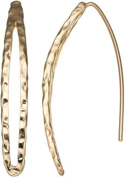 Dana Buchman Textured Nickel Free Threader Earrings