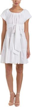 Eva Franco Linen-Blend A-Line Dress