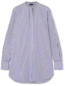 Joseph Carla Striped Cotton-poplin Shirt - Navy
