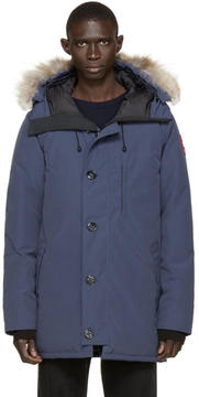 Canada Goose Navy Down and Fur Spirit Chateau Parka