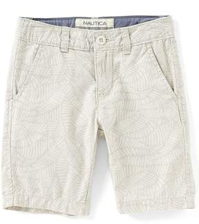 Nautica Little Boys 4-7 Logan Leaf Printed Shorts