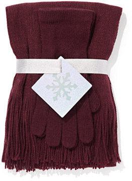 New York & Co. 2-Piece Metallic Scarf & Gloves Gift Set