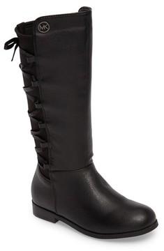 MICHAEL Michael Kors Girl's Emma Venon Ribboned Riding Boot