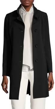 Cinzia Rocca Women's Split Stand Collar Walker Coat
