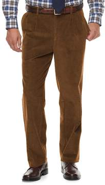 Croft & Barrow Men's Classic-Fit Pleated Corduroy Pants