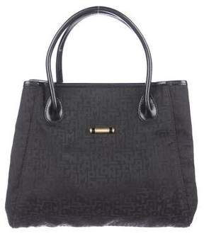 Longchamp Leather-Trimmed Tote