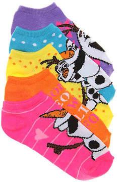 Disney Girls Frozen Kids No Show Socks - 5 Pack