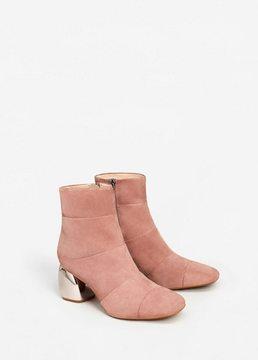 MANGO Mirror heel suede ankle boots