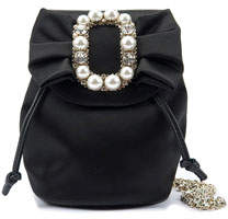Roger Vivier Pearly Buckle Mini Backpack