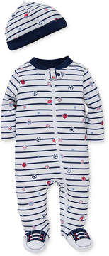 Little Me 2-Pc. Sports Star Hat & Footed Coverall Set, Baby Boys (0-24 months)