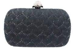 Sondra Roberts Textured Satin Box Bag