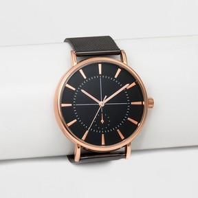 Merona Men's Mesh Bracelet Watch Silver