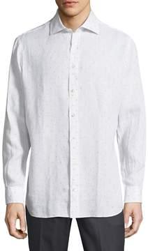 Luciano Barbera Men's Printed Sportshirt