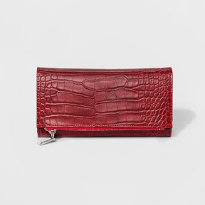 Mossimo Women's Zip-close Flap Trifold Wallet