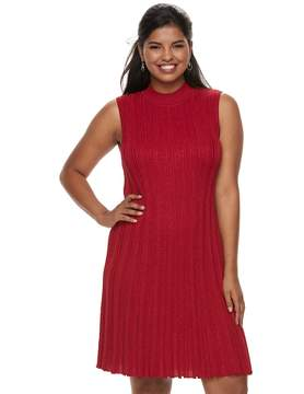 Candies Candie's Juniors' Plus Size Candie's® Sleeveless A-Line Sweater Dress