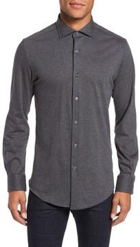Pal Zileri Men's Slim Fit Jersey Sport Shirt