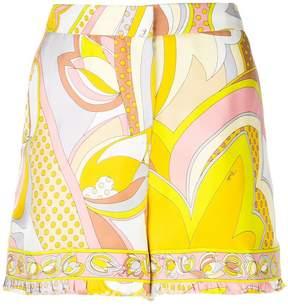 Emilio Pucci high-waisted printed shorts